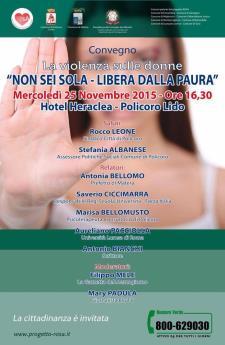 Non sei sola - Libera dalla Paura - 25 Novembre 2015 - Matera