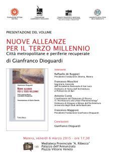 Nuove alleanze per il Terzo Millennio - 6 Marzo 2015 - Matera