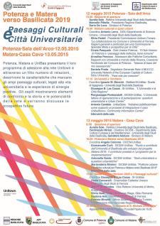 Paesaggi Culturali e Città Universitarie - Matera