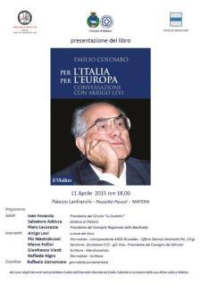 Per l'Italia. Per l'Europa - 11 Aprile 2015 - Matera