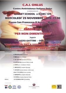 """""""Per non dimenticare"""" - 25 novembre 2015 - Matera"""