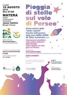 PIOGGIA DI STELLE SUL VOLO DI PERSEO - Matera