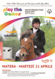 PLAY THE GAMES: Special Olympics Italia - 21 Aprile 2015 - Matera