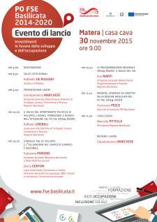 PO FSE Basilicata 2014-2020 - Matera