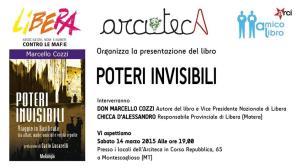 Poteri Invisibili - 14 Marzo 2015 - Matera