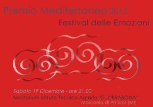 Premio Mediterraneo - Festival delle emozioni - 19 Dicembre 2015 - Matera