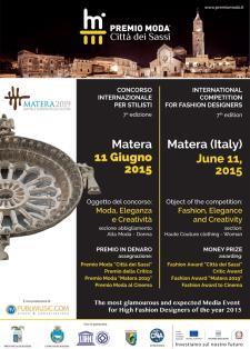 """Premio Moda """"Città dei Sassi"""" - Concorso Internazionale per stilisti 7^ edizione  - Matera"""