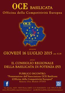 Presentazione dell'Associazione OCE Basilicata  - Matera