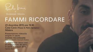 Presentazione video clip del nuovo singolo di Paolo Irene - Matera