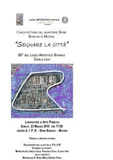 Segnare la Città - 23 Maggio 2015 - Matera