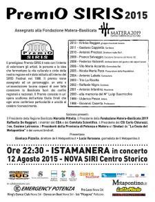 SIRIS FESTIVAL 2015 - Matera
