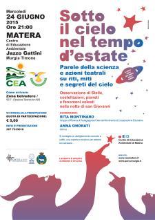 Sotto il cielo nel tempo d'estate - 24 Giugno 2015 - Matera