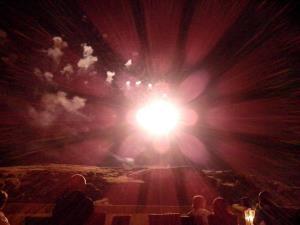 Spettacolo pirotecnico della Festa della Bruna dalle terrazze dell'Altereno Cafè - Matera