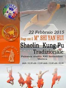 Stage con il M° SHI YAN HUI - 22 Febbraio 2015 - Matera