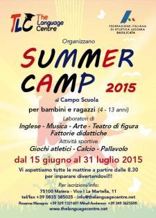 Summer Camp 2015  - Matera
