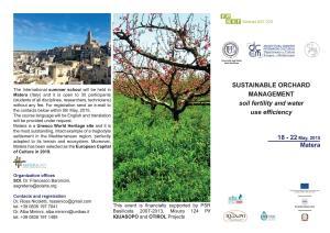 Sustainable orchard management - Matera