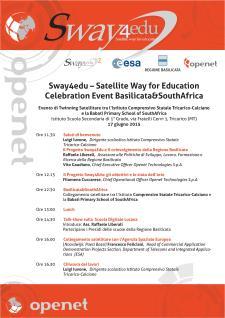 Sway4edu – Satellite Way for Education  - Matera