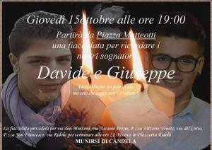 Tragedia Mongolfiera: Fiaccolata per Davide e Giuseppe - Matera