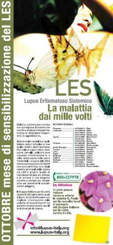 Una violetta per la lotta al LUPUS ERITEMATOSO SISTEMICO - Matera
