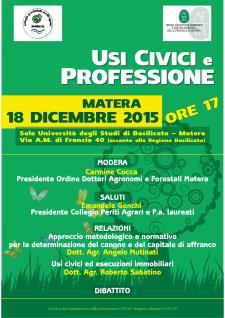 Usi Civici e Professione - 18 Dicembre 2015 - Matera