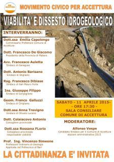 Viabilità e dissesto idrogeologico della montagna materana: analisi e proposte - 11 Aprile 2015 - Matera