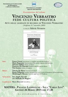 Vincenzo Verrastro. Fede cultura politica - 26 Marzo 2015 - Matera