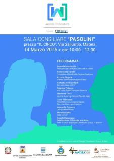Women Techmakers - 14 marzo 2015 - Matera
