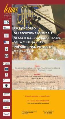 XV edizione del Concorso di Esecuzione Musicale - Premio Rosa Ponselle  - Matera