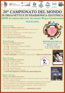 XX edizione del Campionato del Mondo di organetto e fisarmonica diatonica - Matera