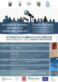 XXI GIORNATA REGIONALE DELLE PRO LOCO di Basilicata - 28 Giugno 2015 - Matera