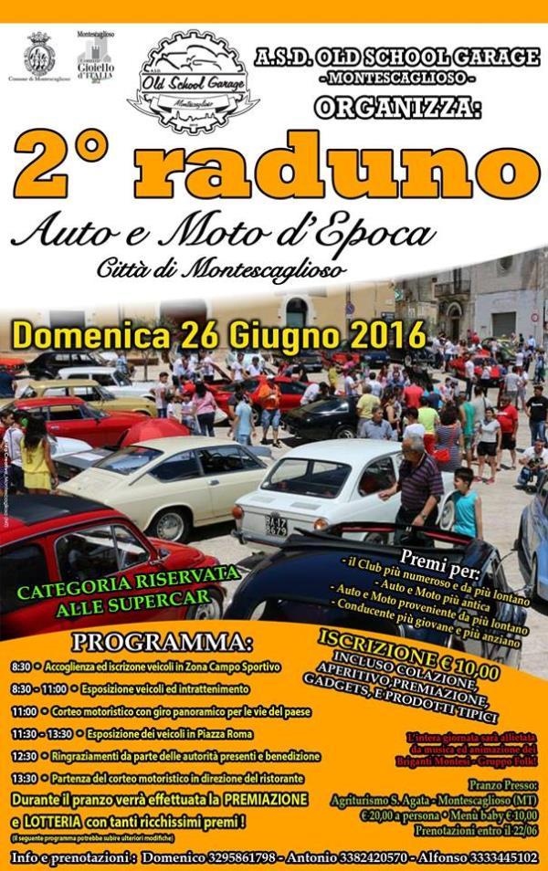2° Raduno Auto e Moto d´Epoca - 26 Giugno 2016