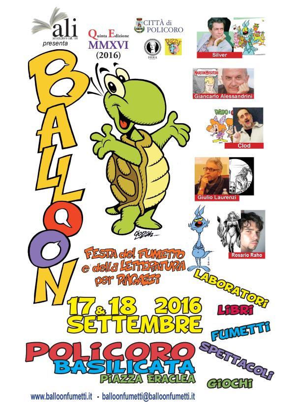 Balloon 2016 - La Festa del fumetto e della letteratura per ragazzi - 17 e 18 settembre 2016