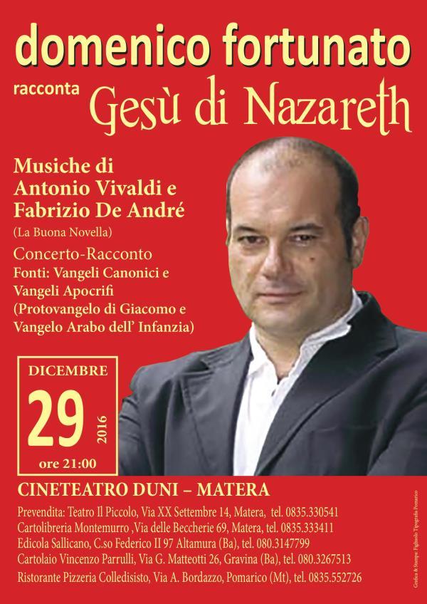 Concerto Racconto – Gesú di Nazareth - 29 dicembre 2016