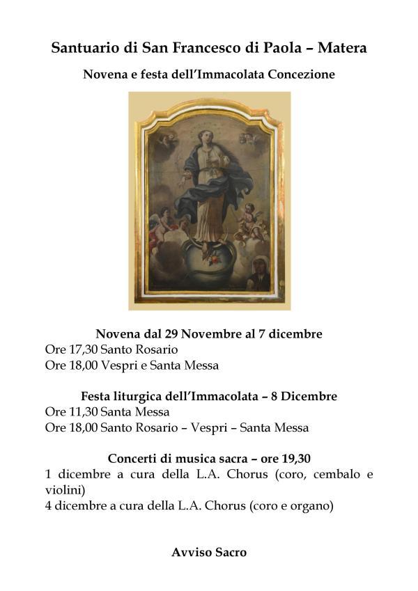 Festa liturgica dell´Immacolata