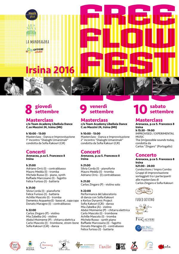 Free Flow Fest 2016 -  dal 8 al 10 settembre 2016