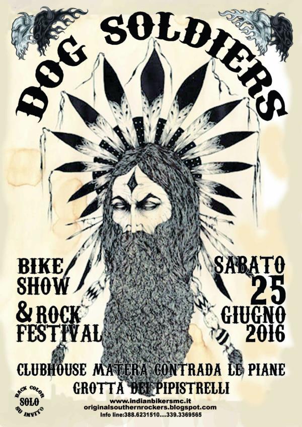 "Motoraduno bikers denominato ""Dog Soldiers"" - 25 Giugno 2016"