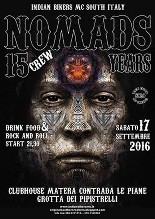 Motoraduno INDIAN BIKERS MC NOMADS - 17 settembre 2016