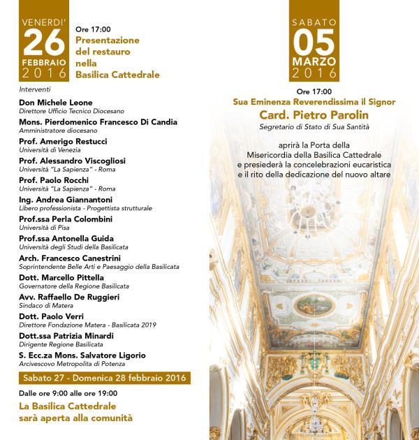Presentazione del restauro nella cattedrale di Matera