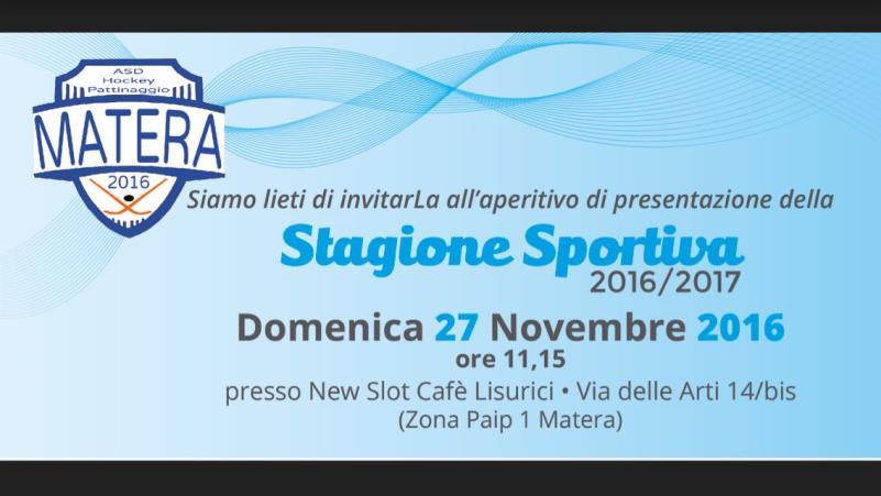 Stagione sportiva Hockey Pattinaggio Matera 2016/2017