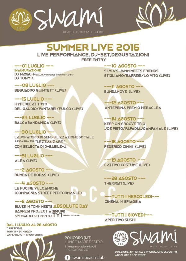 Swami Summer live 2016