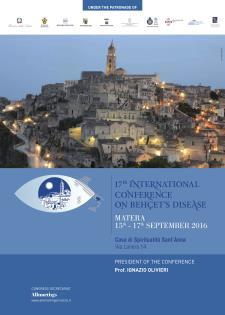 17^ congresso internazionale sulla Malattia di Behçet - dal 15 al 17 settembre 2016 - Matera