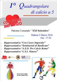 1° quadrangolare di calcio a 5 - 2 Marzo 2016 - Matera