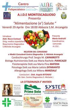 Alimentazione (e') salute - Matera