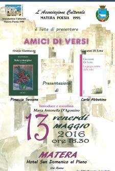 AMICI DI VERSI - 13 Maggio 2016 - Matera