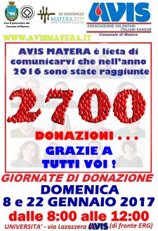AVIS: Giornata di donazione sangue - Matera