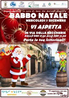 Babbo Natale in via delle Beccherie - Matera