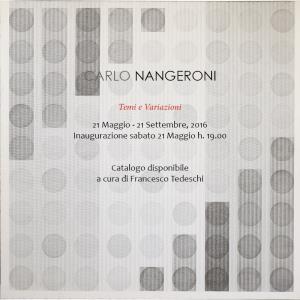 Carlo Nangeroni, Temi e Variazioni - Matera