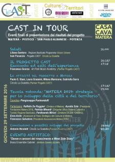 CAST IN TOUR - 29 settembre 2016 - Matera