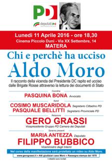 Chi e perché ha ucciso Aldo Moro - 11 Aprile 2016 - Matera