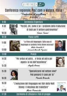 """Conferenza Regionale Proz """"Traduzione ed eccellenza"""" - 22 ottobre 2016 - Matera"""